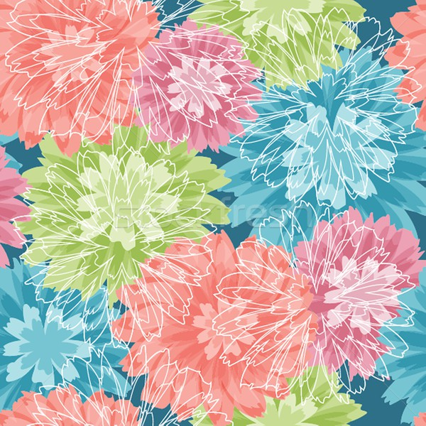 Floral rose seamless pattern in retro style Stock photo © mcherevan