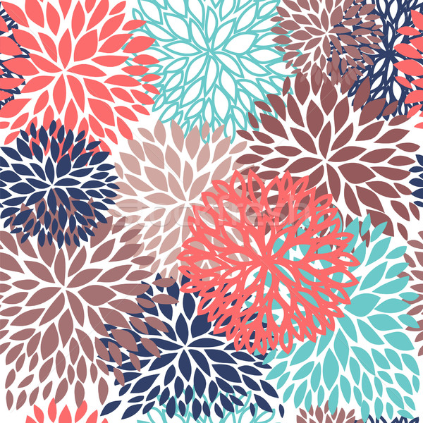 Bright Floral seamless pattern. Vector illustration for wallpapers, textile. Stock photo © mcherevan