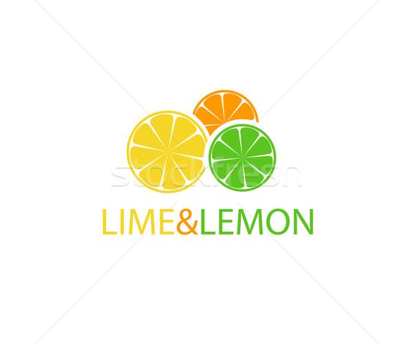 オレンジ レモン 石灰 ロゴデザイン フルーツ 健康 ストックフォト © mcherevan