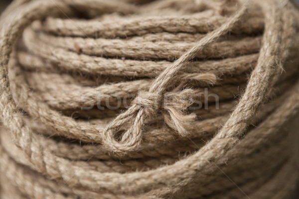 Coil of rope with marine knot loop. Stock photo © mcherevan