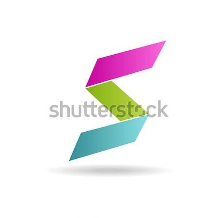 Mektup parlak renkler logo kolay düzenlenebilir Stok fotoğraf © mcherevan