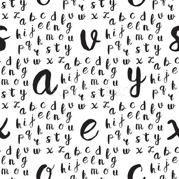 Zwarte alfabet brieven witte web Stockfoto © mcherevan
