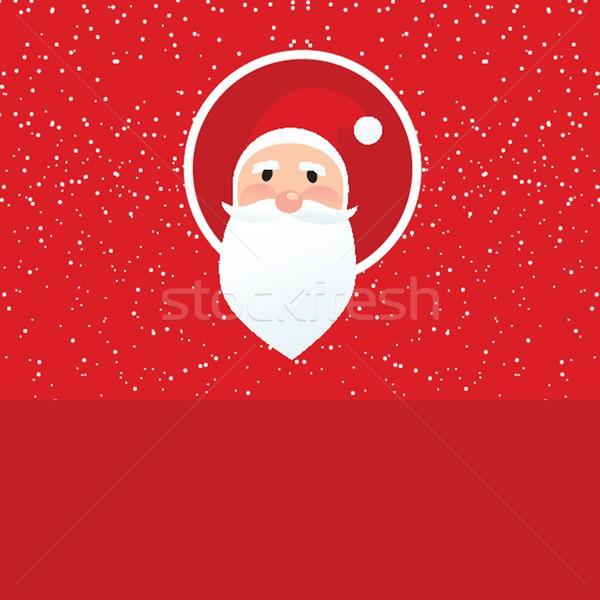 Christmas card with Santa Klaus face Stock photo © mcherevan