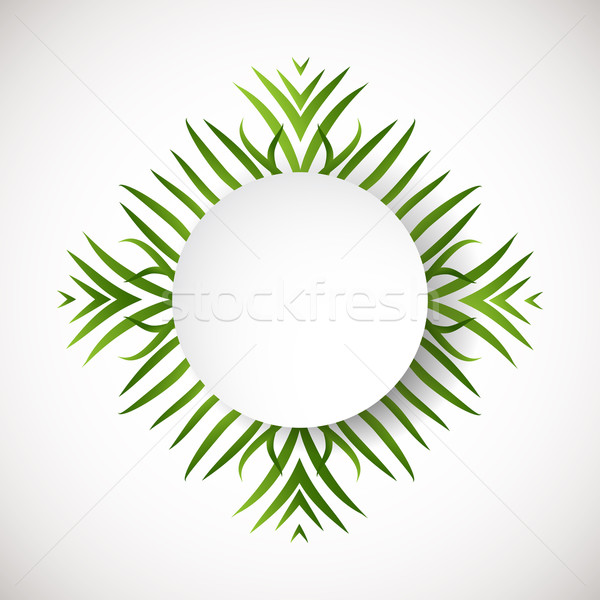 Circle green background. Ecology sign. Abstract r leaves in a circle shape Stock photo © mcherevan