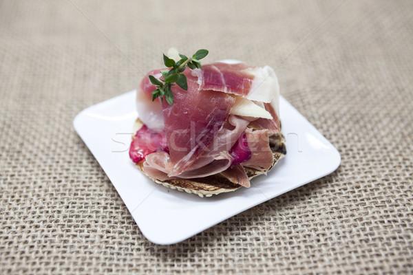 Fraîches délicieux espagnol tapas herbes fraises Photo stock © mcherevan