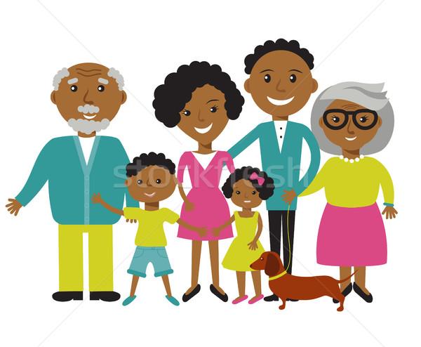 Feliz familia cuatro hijo hija Foto stock © mcherevan