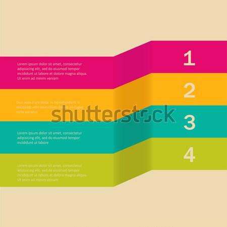Vector web design sjabloon lijnen perspectief business Stockfoto © mcherevan