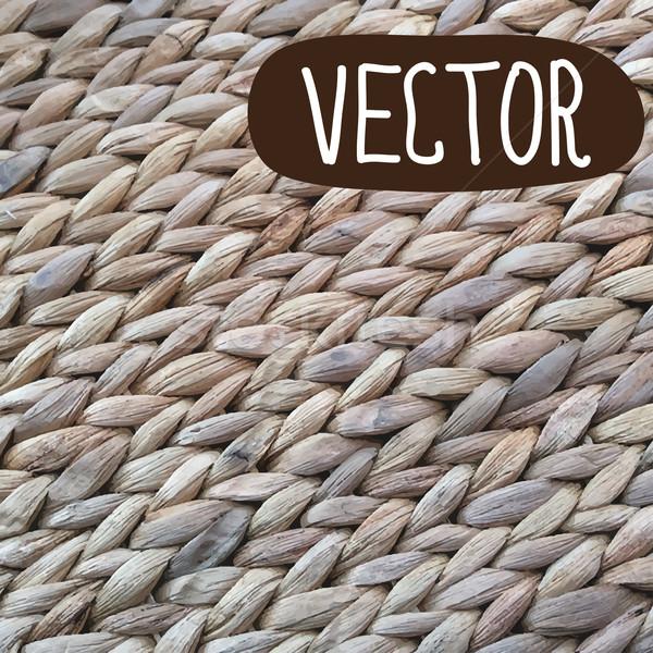 Wicker Texture Backgroun Vector Illustration In Rustic Style Stock Photo C Mcherevan