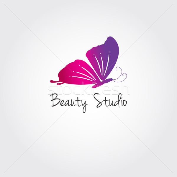 Butterfly. Vector design concept for beauty salon or studio. Vector logo template Stock photo © mcherevan
