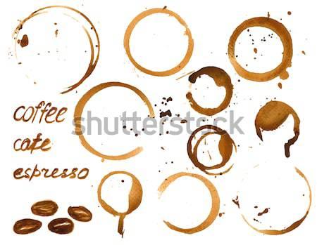 кофе пятно Круги пить чернила Сток-фото © mcherevan