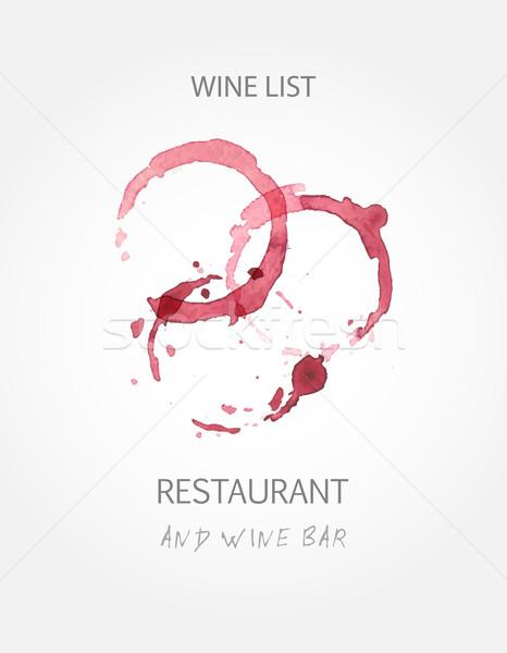 Vinho lista projeto templates vinho tinto Foto stock © mcherevan