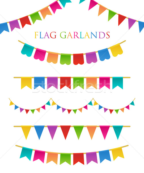 Stock photo: Vector Illustration of Colorful Garlands