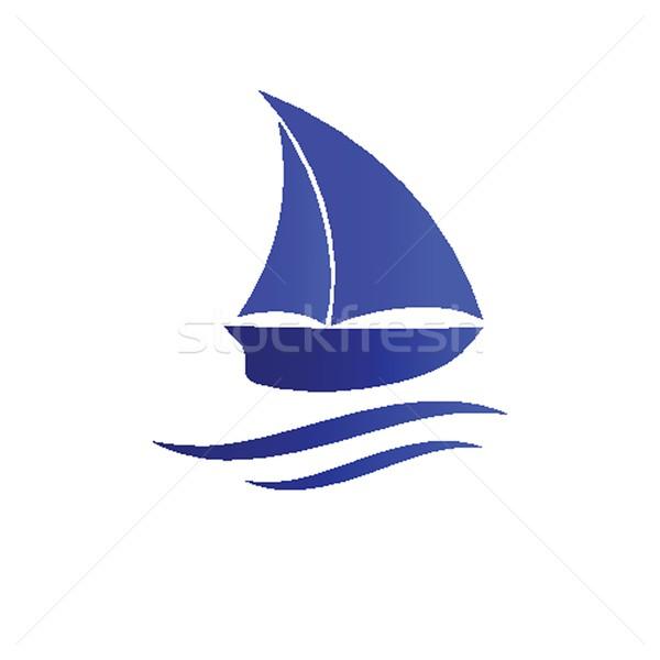 ボート アイコン ビーチ デザイン 背景 芸術 ストックフォト © mcherevan