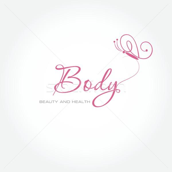 Logo design. For beauty salon, spa center, health clinic Stock photo © mcherevan