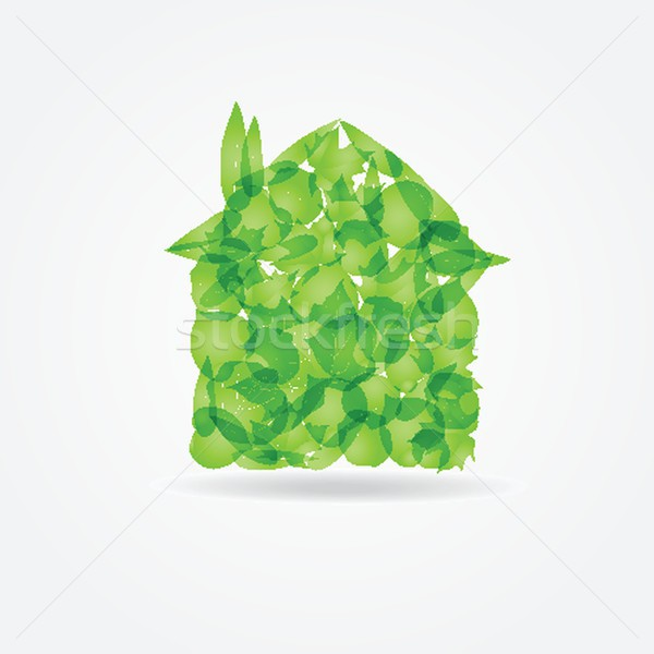 Ecological concept. Small green house Stock photo © mcherevan