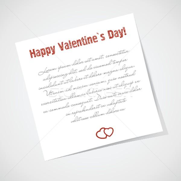 Note collante amour texte enfants lumière Photo stock © mcherevan