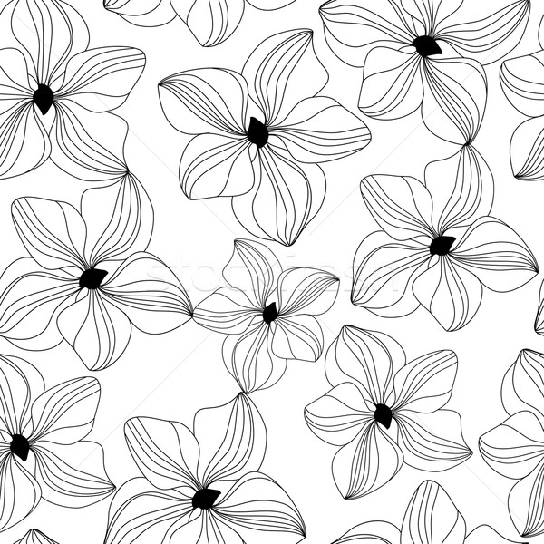 Seamless pattern with pink orchid, vector Stock photo © mcherevan