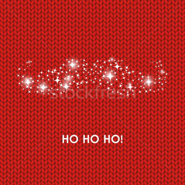 Stok fotoğraf: Noel · baba · bıyıklar · ifade · kırmızı · yün