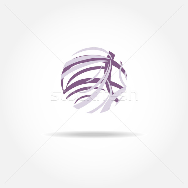 Violet vector logotype for social, web, media and other business company. Stock photo © mcherevan