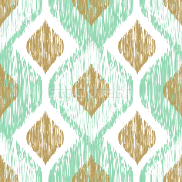 Seamless pattern. Ikat ethnic background in pastel colors. Stock photo © mcherevan