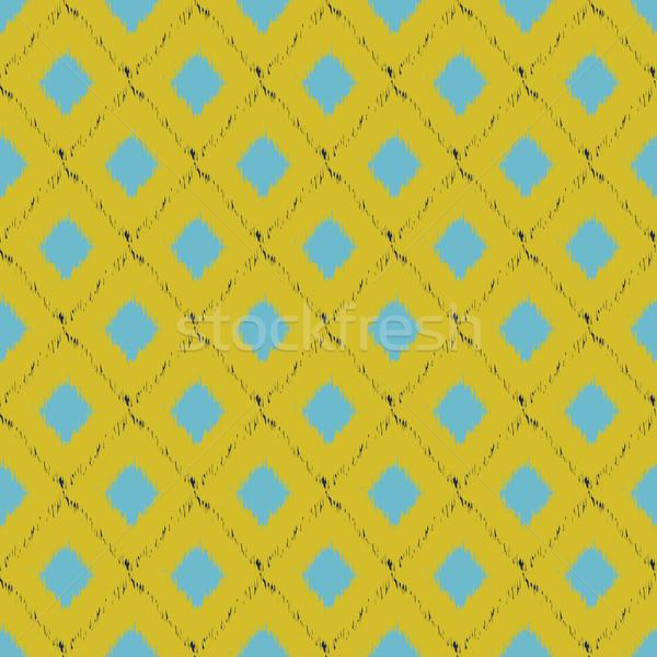Modèle jaune bleu couleurs vecteur Photo stock © mcherevan