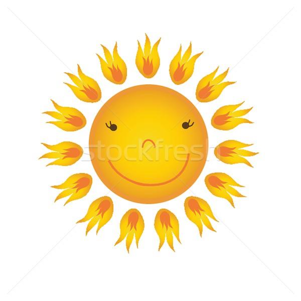 Soleil blanche coucher du soleil design art été Photo stock © mcherevan
