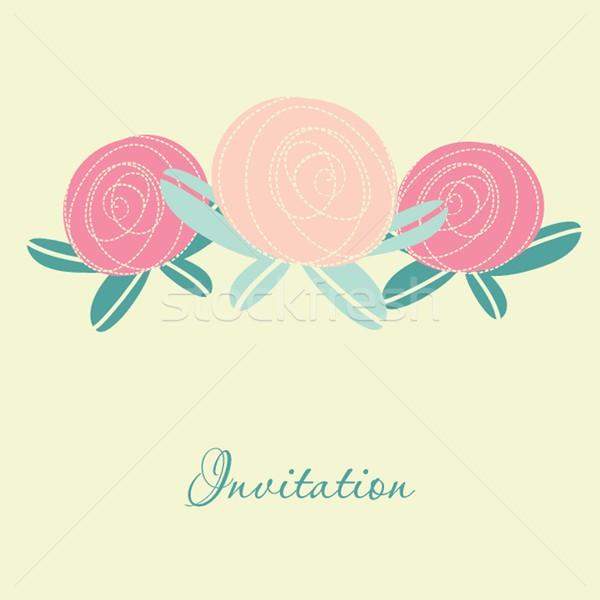 結婚式招待状 値下がり フローラル 要素 ストックフォト © mcherevan