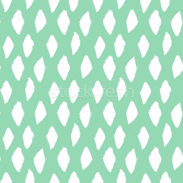 Sem costura nosso escove pintado padrão azul Foto stock © mcherevan