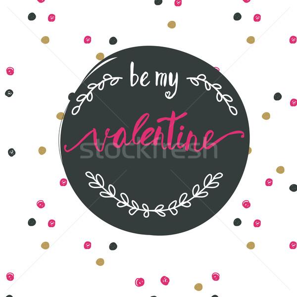 Meu valentine nosso ilustração rosa Foto stock © mcherevan