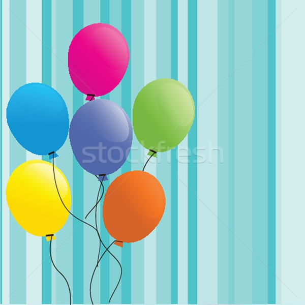 Festive background with balloons Stock photo © mcherevan