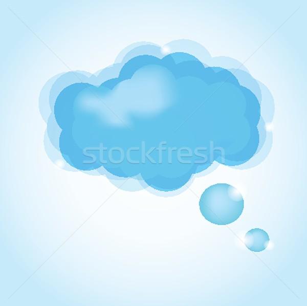 Nuage icône ciel eau design Photo stock © mcherevan