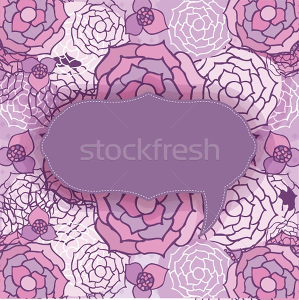 Floral pattern in autumn colors Stock photo © mcherevan