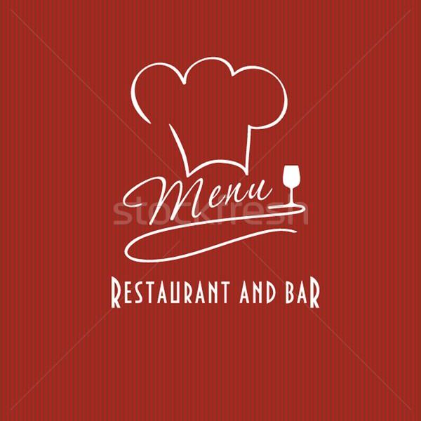 Ristorante bar menu elenco illustrazione capo Foto d'archivio © mcherevan