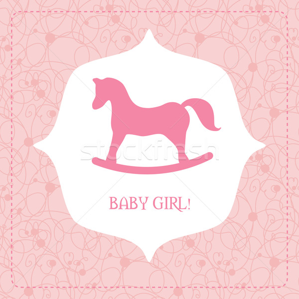 Vector cute greeting card It's a girl. Stock photo © mcherevan