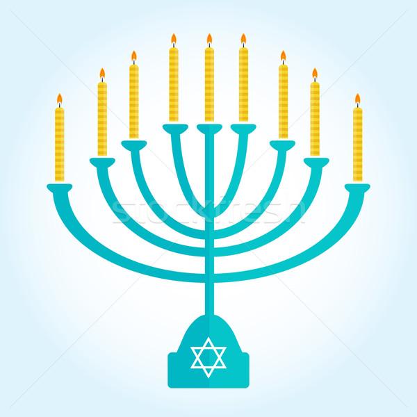 праздник сжигание свечей изолированный белый дизайна Сток-фото © mcherevan