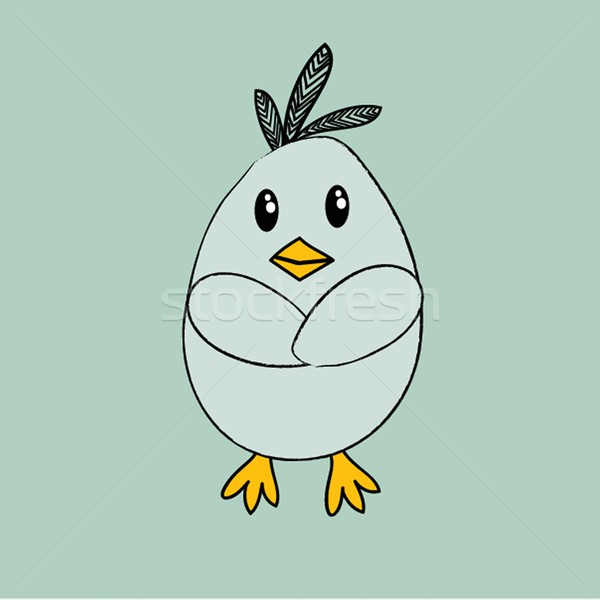 illustration of Cartoon Cock Stock photo © mcherevan