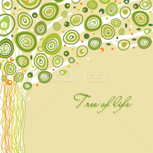 Abstract tree of life. Vector illustration in soft colors Stock photo © mcherevan