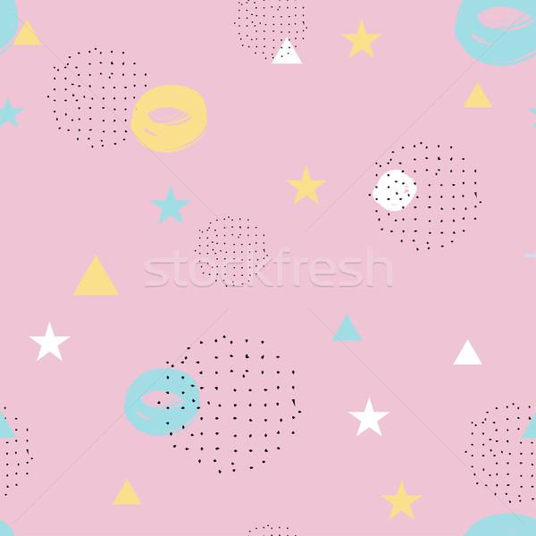 Stockfoto: Moderne · stijl · abstract · patroon · zwarte · pastel