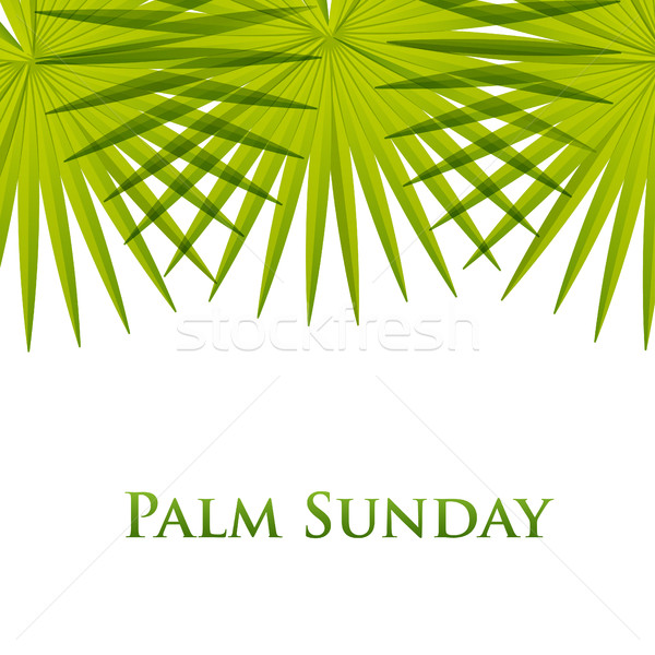Palm leafs vector background. Vector illustration  for the Christian holiday Palm Sunday. Stock photo © mcherevan