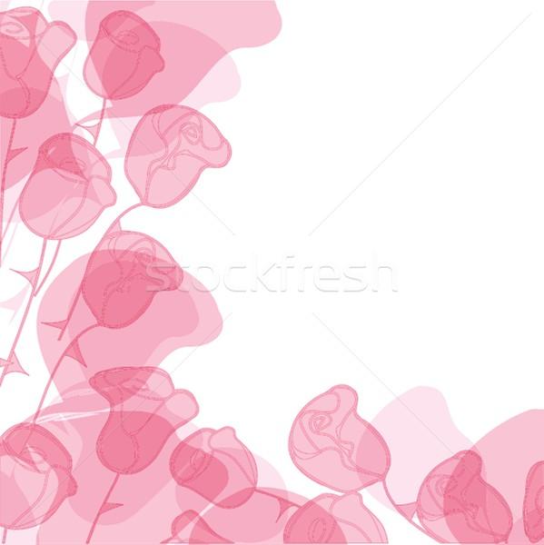 Soyut gül çiçek kart kâğıt dizayn Stok fotoğraf © mcherevan