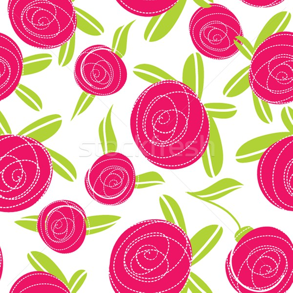 Seamless pattern with abstract rose flowers. Stock photo © mcherevan