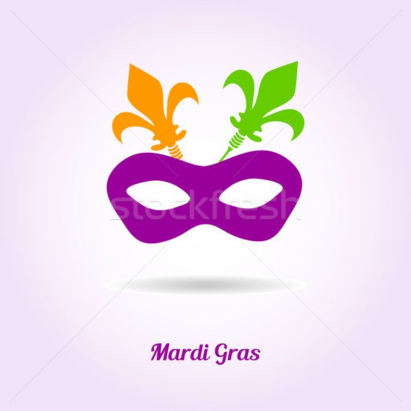 Máscara vetor cartão convite projeto primavera Foto stock © mcherevan