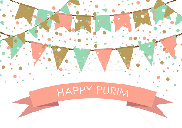 Purim holiday card or banner design.  Stock photo © mcherevan