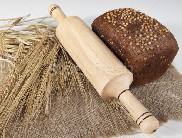 Stok fotoğraf: Somun · ev · yapımı · ekmek · siyah · hardal · tohumları