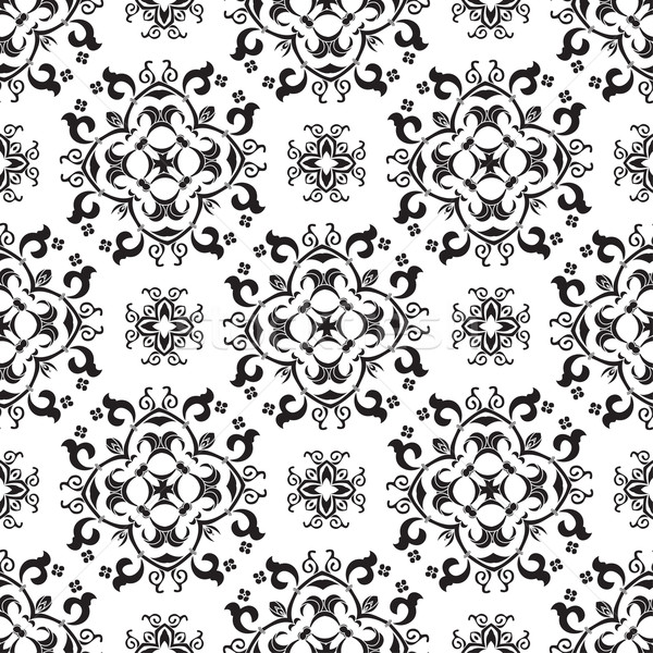 Black and white damask seamless pattern  Stock photo © mcherevan
