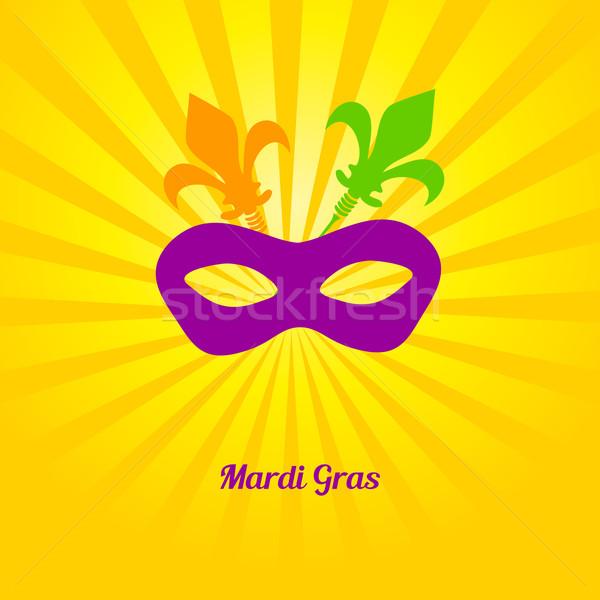 Mardi gras mask. Vector card invitation design. Stock photo © mcherevan