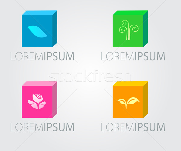 Set of Logo design. For beauty salon, spa center, health clinic. Stock photo © mcherevan