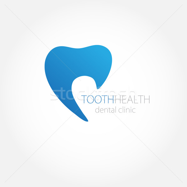 Dental clinic logo with tooth Stock photo © mcherevan