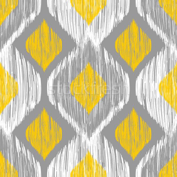 этнических синий желтый цветами текстуры Сток-фото © mcherevan