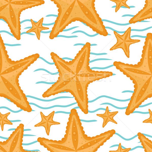 Stock fotó: Hullámok · tengeri · csillag · végtelenített · tenger · minta · tengerpart